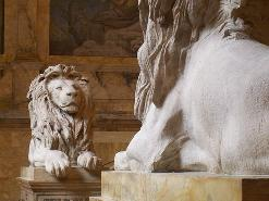 Similar to the lions guarding the New York Public Library